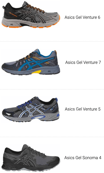 meilleures chaussures trail asics